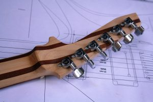 The headstock is designed to reduce weight